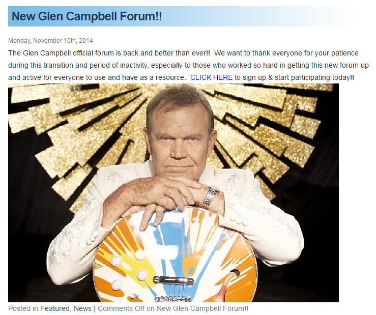 The Glen Campbell official forum is back and better than ever_Nov 10 2014.png