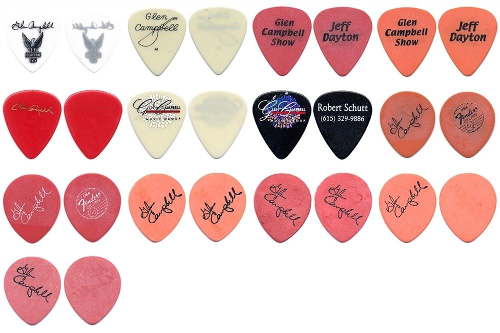 Glen Campbell Guitar Picks Ebay Seller Full Display Ovation and more.jpg