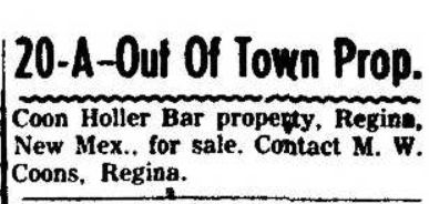 1957-06-30_Farmington_Daily_Times_p_26_Coon_Holler_bar_for_sale.jpg
