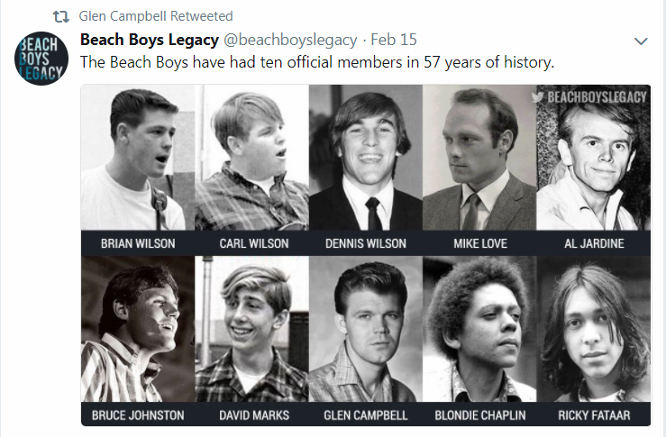 02-15-2018_Beach Boys Legacy_Twitter_10 Official Band Members in 57 Years_Glen Campbell.png