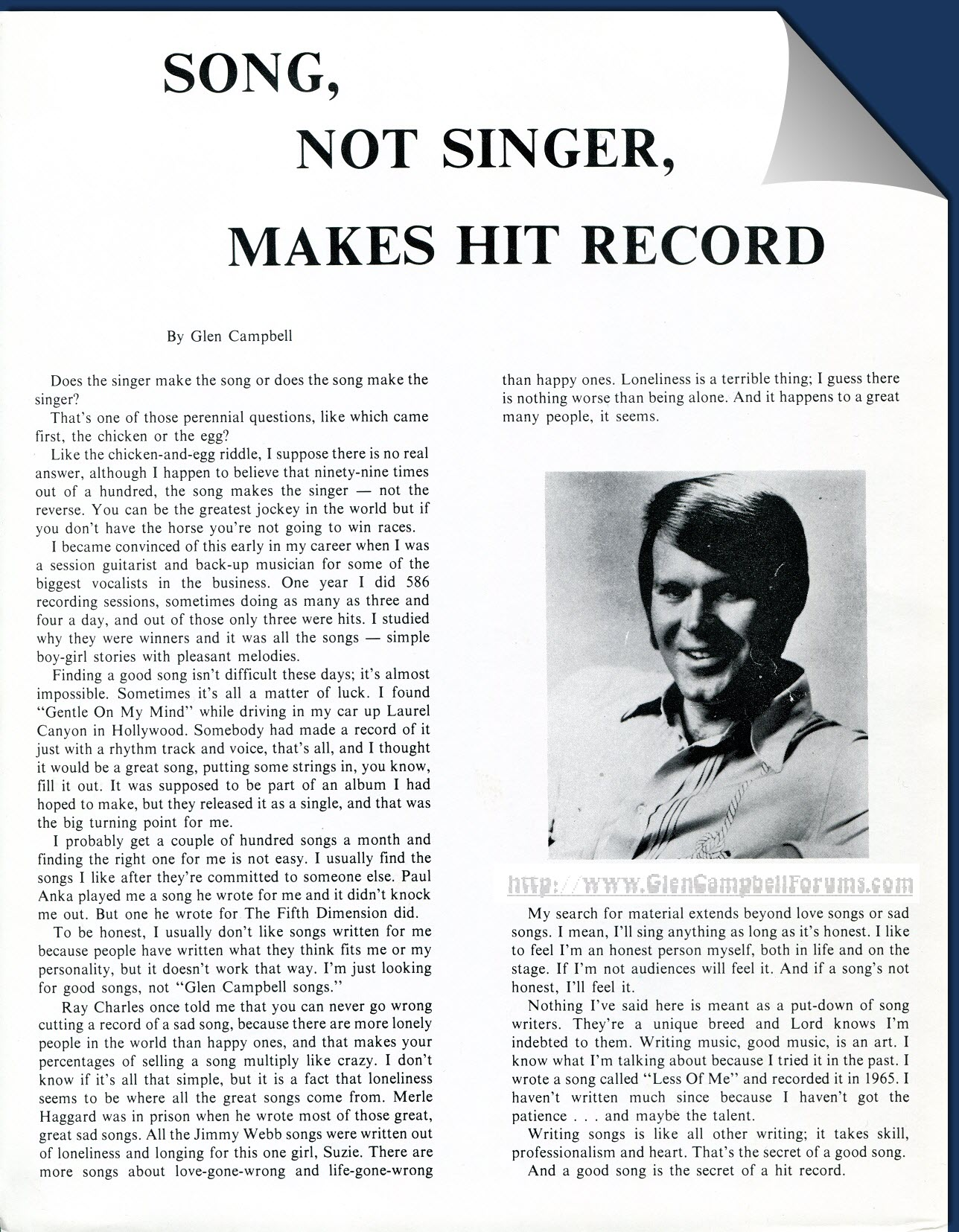 Song, Not Singer, Makes Hit Record_1970s_Official Glen Campbell International Fan Club Article-GCF on the Net-D. Zink Collection.jpg