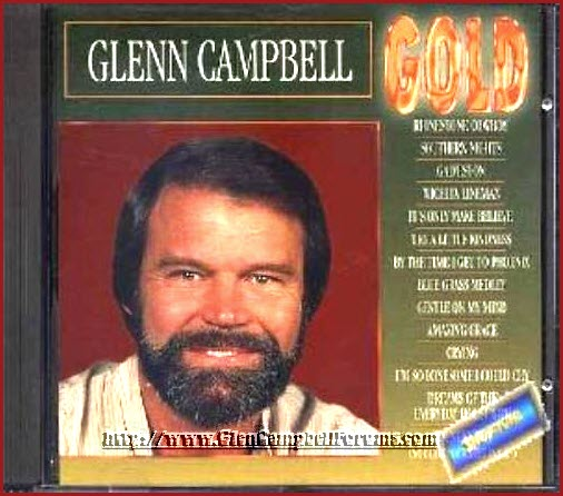 Glen Campbell GOLD Compilation CD with first name misspelled.jpg
