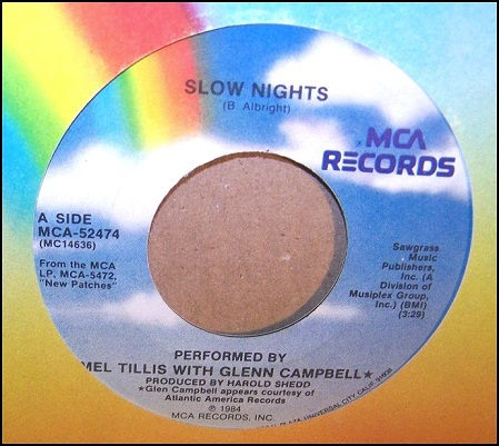 Single_Mel Tillis_Glen and Glenn Campbell_Slow Nights.jpg
