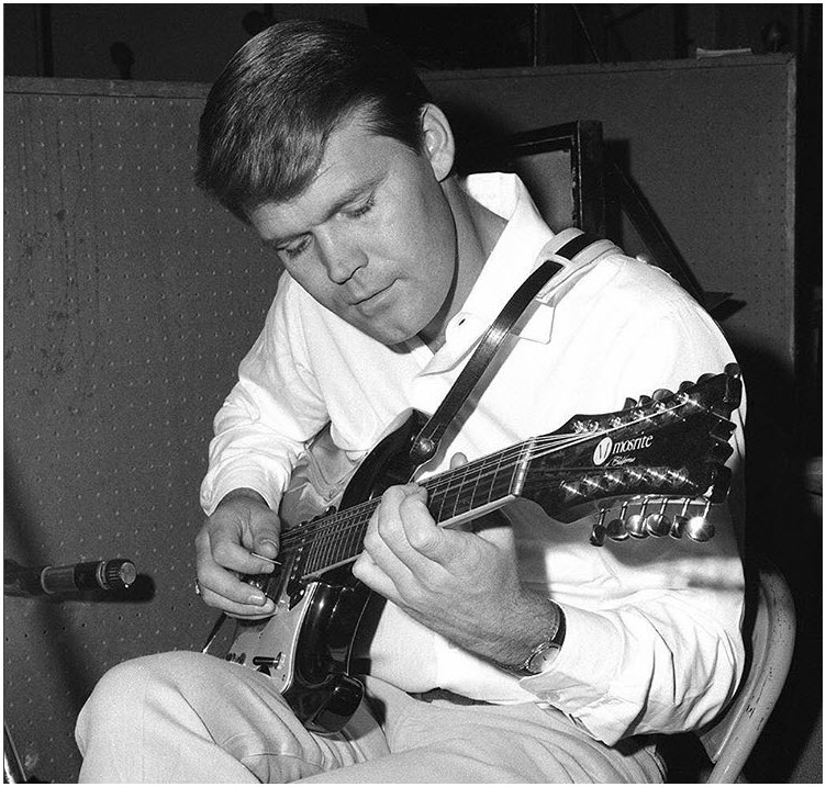 Glen Campbell with Mosrite Guitar_shared by Glen Campbell Official.jpg