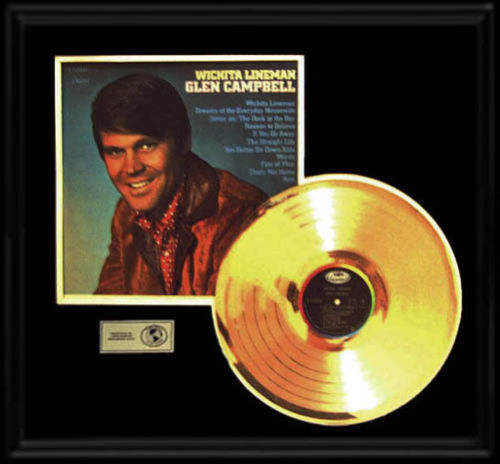 Ar's Glen Campbell Wichita Lineman Gold Record LP with Album Cover.jpg