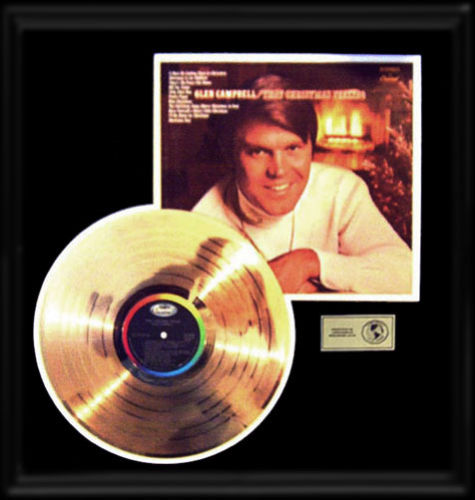 Ar's Glen Campbell That Christmas Feeling Gold Record LP with Album Cover.jpg